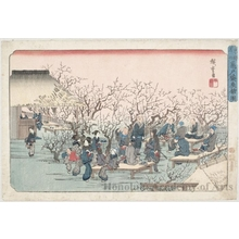 Utagawa Hiroshige: Japanese Plum Garden Estate, Kameido - Honolulu Museum of Art