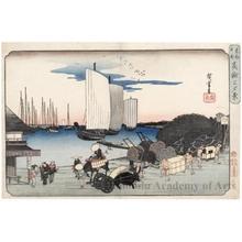 歌川広重: Evening Scene at Takanawa - ホノルル美術館