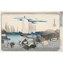Utagawa Hiroshige: Evening View of Takanawa - Honolulu Museum of Art