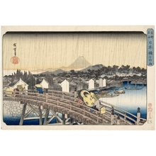 Utagawa Hiroshige: White Rain at Nihonbashi Bridge - Honolulu Museum of Art