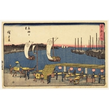 Utagawa Hiroshige: Evening View of Takanawa - Honolulu Museum of Art