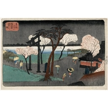 Utagawa Hiroshige: Cherry Blossoms in Rain on the Sumida Riverbank - Honolulu Museum of Art