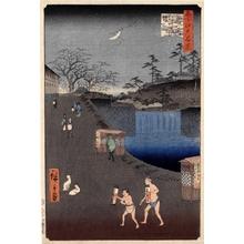 Utagawa Hiroshige: Aoi Slope, Outside Toranomon Gate - Honolulu Museum of Art