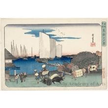 Utagawa Hiroshige: Evening at Takanawa - Honolulu Museum of Art