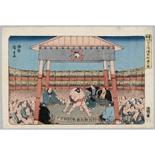 Utagawa Hiroshige: Sumö Match at Eköin Temple - Honolulu Museum of Art
