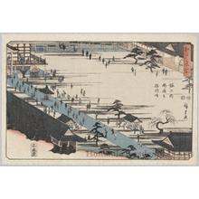歌川広重: Visit for the Founder of Myöhöji Temple, Horinouchi - ホノルル美術館