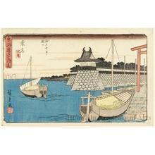 Utagawa Hiroshige: Kuwana (Station #43) - Honolulu Museum of Art