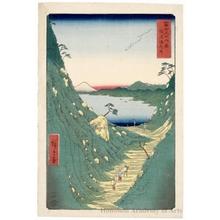 歌川広重: Shiojiri Pass in Shinano Province - ホノルル美術館