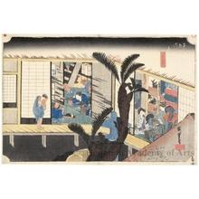 歌川広重: Akasaka (Staion #37) - ホノルル美術館