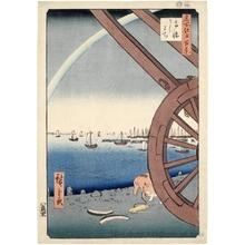歌川広重: Ushimachi, Takanawa - ホノルル美術館