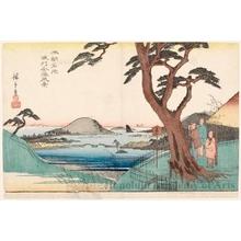 歌川広重: View of Kanazawa in Musashi Province - ホノルル美術館