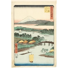 Utagawa Hiroshige: Namamugi Village beside the Tsurumi River at Kawasaki (Station #3) - Honolulu Museum of Art