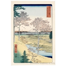 Utagawa Hiroshige: Twilight Hill At Meguro in th Eastern Capital - Honolulu Museum of Art