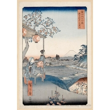 Utagawa Hiroshige: The Teahouse with the View of Mt. Fuji at Zöshigaya - Honolulu Museum of Art