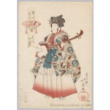 Shunbaisai Hokuei: Shamisen Player Ökiyo Komine - ホノルル美術館