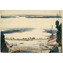 Shotei Hokuju: View of Ushijima and the Asakusagawa at Sanyabori - Honolulu Museum of Art