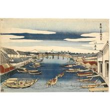 昇亭北壽: View from Nihonbashi - ホノルル美術館