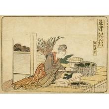 葛飾北斎: Kusatsu 3.5 ri 6 chö to Ötsu - ホノルル美術館