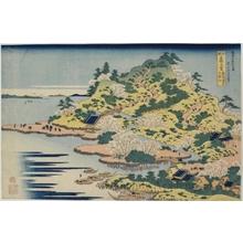 葛飾北斎: Bridges at the Mouth of the Aji River Tenpözan, Settsu Province - ホノルル美術館