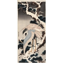 Katsushika Hokusai: Cranes On Pine Tree - Honolulu Museum of Art