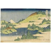 Katsushika Hokusai: Hakone Lake in Sagami Province - Honolulu Museum of Art