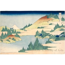 Katsushika Hokusai: The Lake at Hakone in Sagami Province - Honolulu Museum of Art