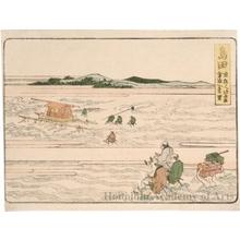 葛飾北斎: Shimada 1ri to Kanaya - ホノルル美術館