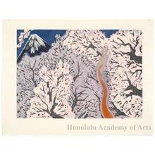 Sekino Junichirö: Yoshiwara: Mt. Fuji and Cherry Blossoms - Honolulu Museum of Art