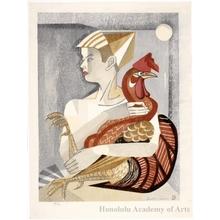 Sekino Junichirö: A Boy and His Rooster - ホノルル美術館