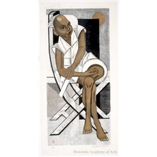 Sekino Junichirö: Black Boy Seated on A Chair - ホノルル美術館