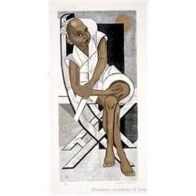 Sekino Junichirö: Black Boy Seated on A Chair - Honolulu Museum of Art