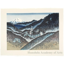 Sekino Junichirö: Hakone: Mt. Fuji over the Lake - ホノルル美術館