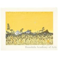 Sekino Junichirö: Fujieda: Wheat Field at Twilight - ホノルル美術館