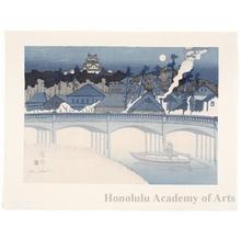 Sekino Junichirö: Okazaki: Castle and Sugö Bridge - ホノルル美術館