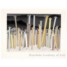 Sekino Junichirö: Ishibe: Wooden Grave Tablets - ホノルル美術館