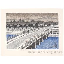 Sekino Junichirö: Kyoto: Sanjö Öhashi Bridgein Snow - Honolulu Museum of Art