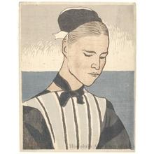 山本鼎: Woman of Brittany - ホノルル美術館