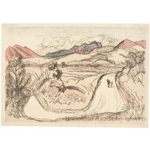 山本鼎: Road in a High Plateau - ホノルル美術館