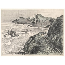 山本鼎: Seascape - ホノルル美術館