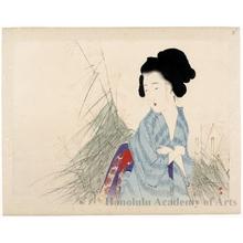 武内桂舟: Beauty Watching Autumn Flowers - ホノルル美術館