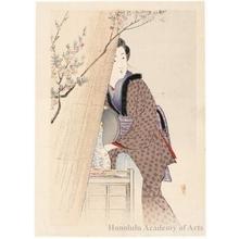 武内桂舟: Shopgirl of White Sake - ホノルル美術館