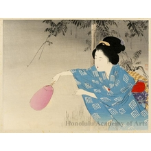 Takeuchi Keishu: A Beauty Hunting Fireflies - Honolulu Museum of Art