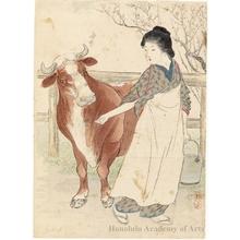 武内桂舟: Milk - ホノルル美術館