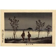 小林清親: The Sumida River at Night - ホノルル美術館