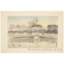 小林清親: City View (Posthumous woodcut of a Kiyochika painting) - ホノルル美術館