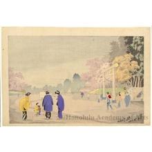 小林清親: Shrine Scene - ホノルル美術館
