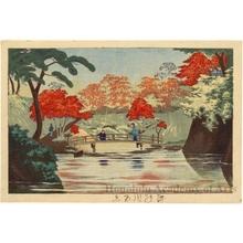 小林清親: Red Maples in Takinogawa - ホノルル美術館