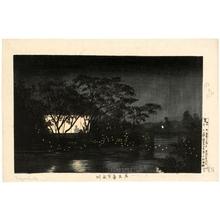 小林清親: The Koromo River below Tennö-ji - ホノルル美術館