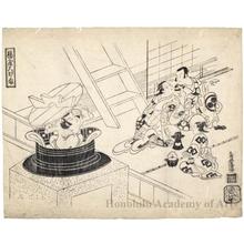 Torii Kiyomasu I: Ageya Ögama: Ichikawa Danjürö II, Nakamura Takesaburö, and Tomizawa Hanzaburö - Honolulu Museum of Art