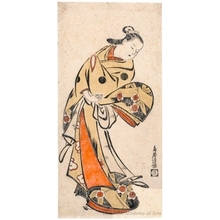 Torii Kiyomasu I: Standing Courtesan - Honolulu Museum of Art